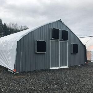 Semi-Gable Style Greenhouse