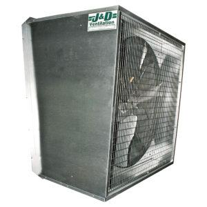 Slanted 24 inch exhaust fan