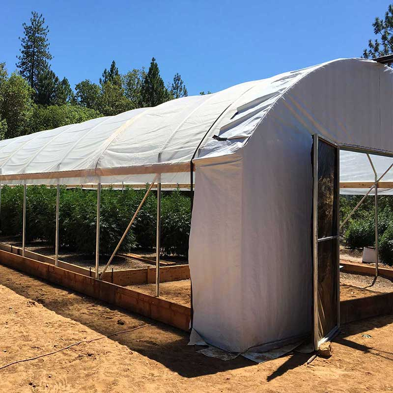 Standard quonset style light deprivation greenhouse