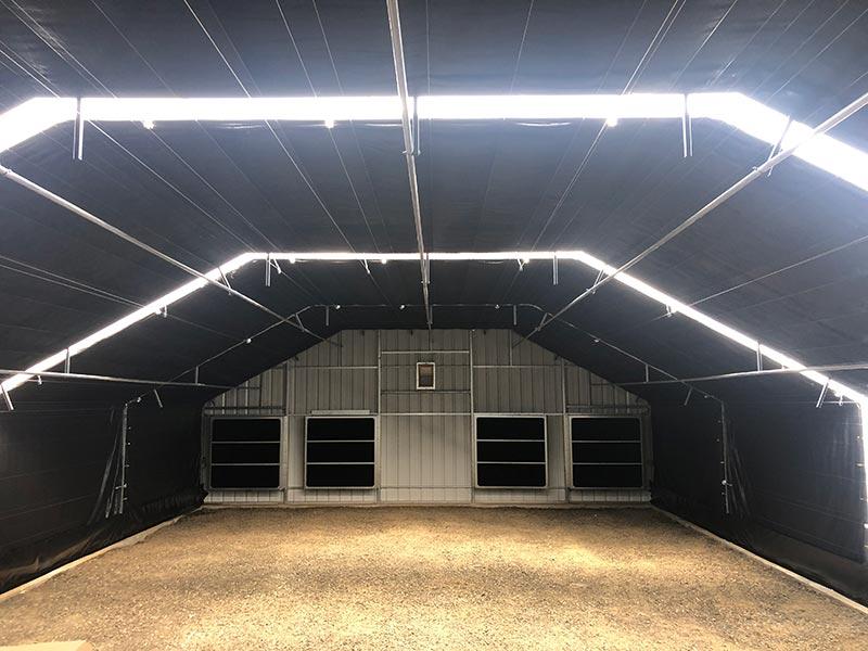 Interior blackout curtains