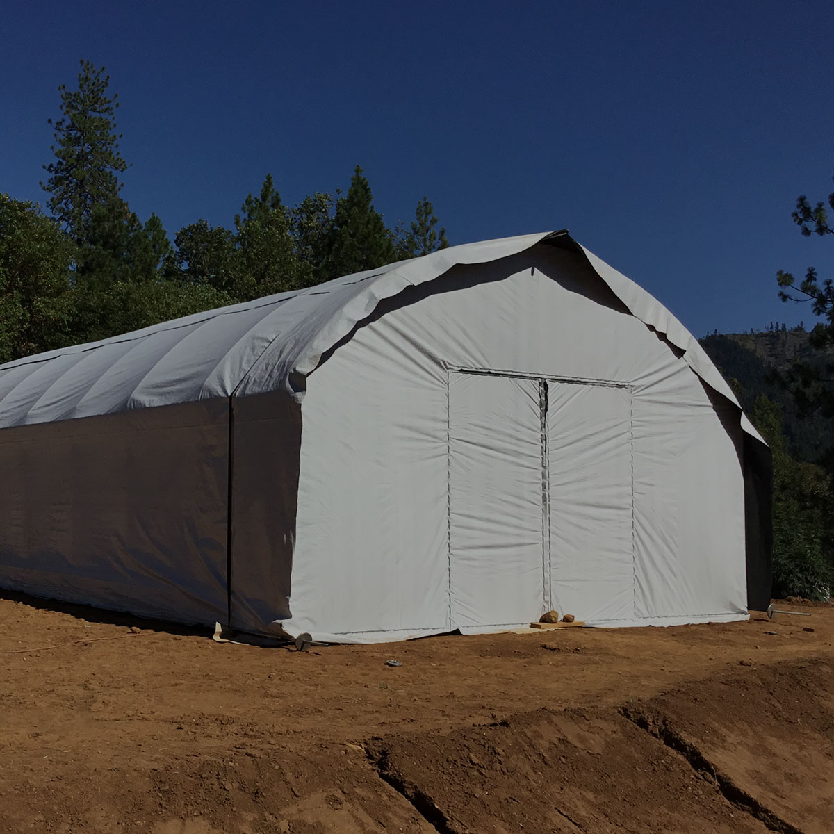 20' Wide Quonset style greenhouse