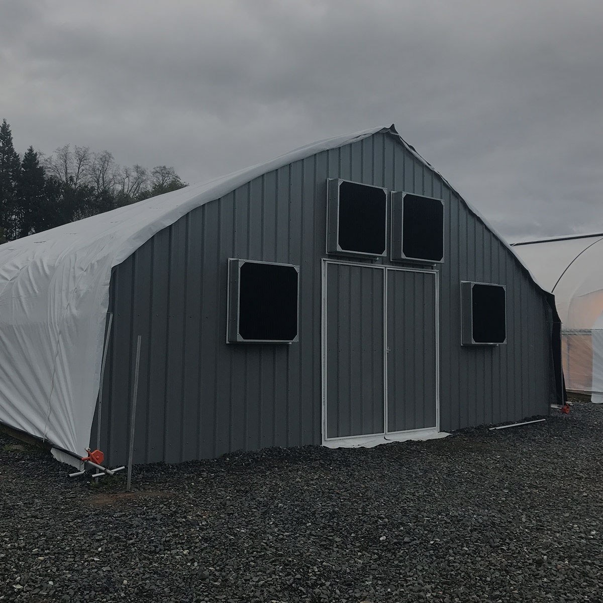 30' Wide Semi-Gable Style Greenhouse