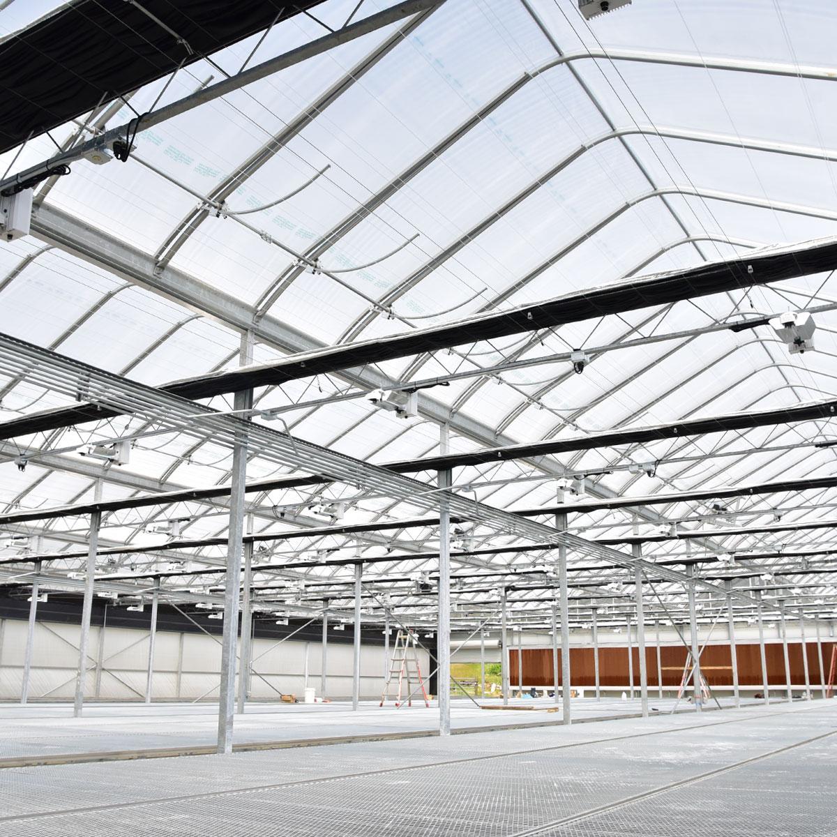 Gutter Connect Greenhouse interior framework