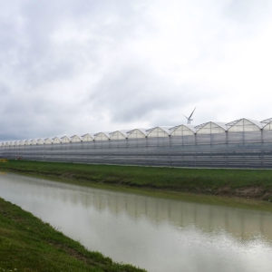 Gutter Connect Greenhouse on a river