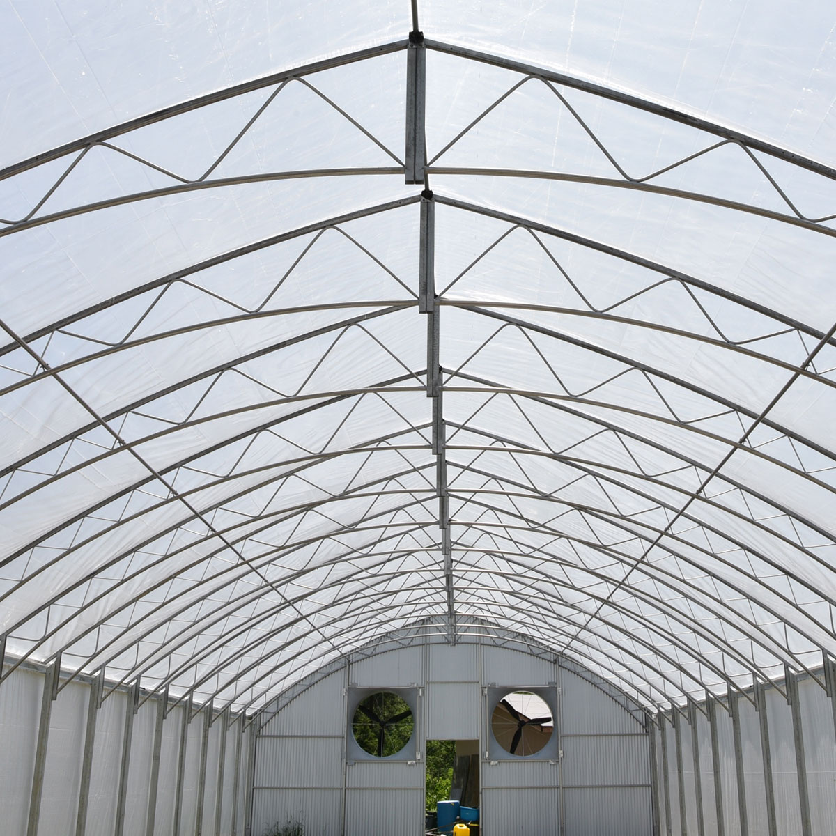 Titan Cathedral Greenhouse interior frame work
