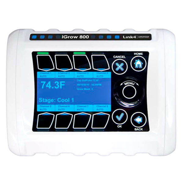 iGrow 800 controller for automated blackout greenhouse