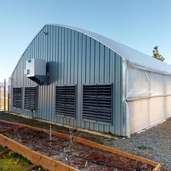30ft wide Titan Series Light Deprivation Greenhouse